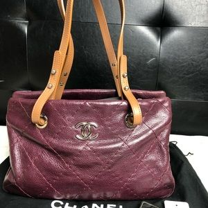 Chanel • Glazed Calfskin On The Road Zip Tote Bag
